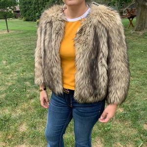 EUC Faux Coyote Fur 3/4 Sleeve Jacket|MICHAEL KORS